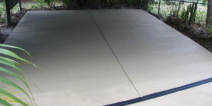Concrete slab cost for shed