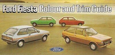 Ford Fiesta Mk1 Colour & Trim 1977 UK Market Foldout Brochure Base L S Ghia