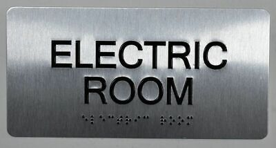 Electric Room Silver-tactile Touch Braille Sign Brush Silver4x8...ref0420