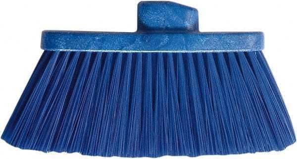 """PRO-SOURCE 10"""" Wide, Blue Polypropylene Bristles, Angled Broom"""