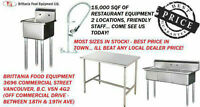 Commercial Sink - Faucets - Spray Unit - Stainless Steel Table