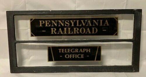 PENNSYLVANIA RAILROAD RR RAILWAY TELEGRAPH OFFICE TICKET ANTIQUE OLD WINDOW