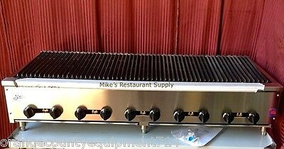 New 72 Lava Rock Char Broiler Grill Gas Stratus Scb-72 4507 Commercial Nsf