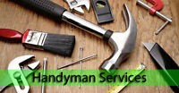 HANDYMAN SERVICES/ by Certified Journeyman, Honest and Reliable!