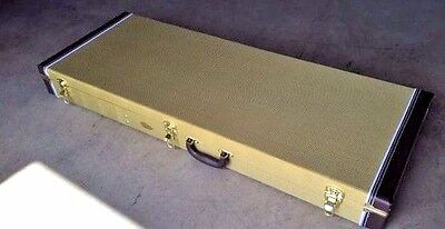 NEW HARD SHELL TWEED DOUBLE NECK ELECTRIC GUITAR CASE FOR A GIBSON SG