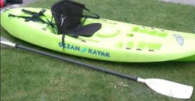 Ocean kayak yak includes paddle and comfort seat