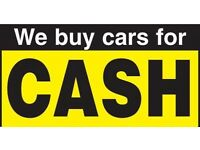 WE BUY ANY CAR OR VAN FOR CASH!!! Even if it is not running, damaged, faulty GIVE US A TRY!!