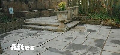 This cleaned patio is now ready for some EASYSeal colour enhancer, always follow the instructions carefully.
