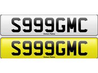 Private Number Plate S999GMC DVLA fee paid