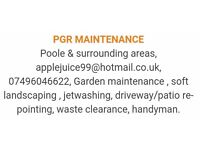 PGR Maintenance - garden maintenance - waste clearance services - jetwashing & more