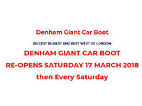 Looking for a travel-mate with a car to go to the denham carboot sale on saturdays :D