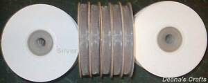 ORGANZA RIBBON SPOOL SHEER EDGED NYLON 1/4