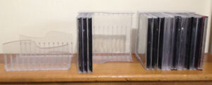 CD or DVD cases and case holders