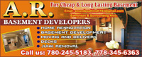 Cheap home renovation and basement development SERVICES ******