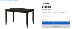 Excellent Condition IKEA LERHAMN Dining Table $99