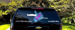 Signs/signage, vinyl wall art, decals, vehicle graphics