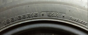 Winter tires on rims (Toyota Prius) excellent condition