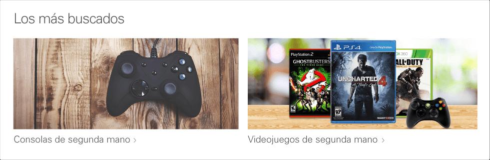 consolas de videojuegos de segunda mano