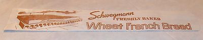VINTAGE SCHWEGMANN WHEAT FRENCH BREAD WRAPPER OR BAG OLD NEW ORLEANS LA. ()