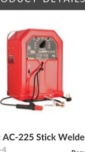 Lincoln ac 225 stick welder and accessories 350$
