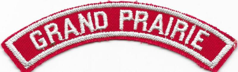 Grand Prairie Red and White RWS Community Strip Vintage Boy Scouts BSA