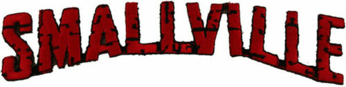 Smallville TV Series Die-Cut Logo Embroidered Patch -new