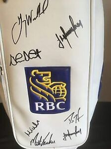 MASTERS CHAMPION MIKE WEIR SIGNED BAG