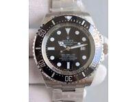 Rolex Deepsea Sea-Dweller Swiss 4813 25j Sweeping Automatic - RARE BLACK FACE, inc Box, Bag, Papers