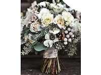wedding flowers, winter wedding, posies, bouquets. prices vary. top quality flowers and foliage.