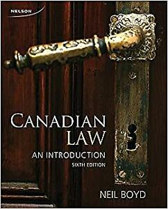 Canadian Law An Introduction 6th edition by Neil Boyd Nelson