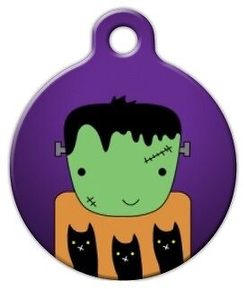 FRANKENSTEIN HALLOWEEN - Custom Personalized Pet ID Tag for Dog and Cat Collars