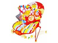 New Baby Bouncer Rocker Reclining Chair Soothing Music Viberation & Toys