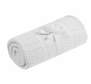 Mothercare crib and mosses basket cellular cotton x2