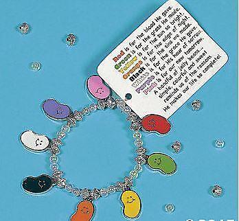 Faith Bracelet Craft Kit (1 Faith Jelly Bead  Enamal Charm Bead Bracelet Kit )