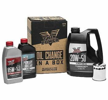 Twin Power Premium 20W50 Oil Change In A Box Kit 84-99 Harley Evo Big Twin