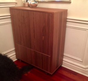 Ikea Stockholm real walnut buffet and cabinet