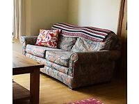 2 Marks & Spencer Couches (1 a sofa bed), Armchair & Footstool
