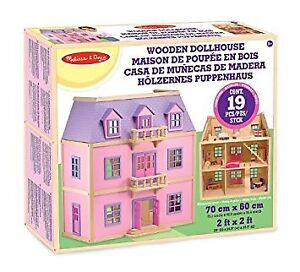New in Box Melissa and Doug Wooden Dollhouse