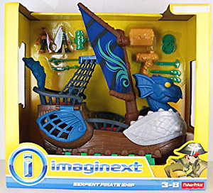 Imaginext serpent pirate ship (blue)
