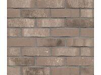 Brick tiles / slips NF677 grey/white flamed