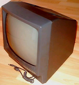 Amstrad GT64 green screen monitor