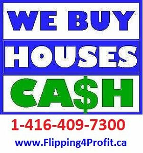 We buy properties CASH and fast closing if required
