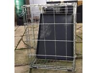 Silver Dog Crate for medium to large dog