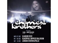 1x Ticket to see The Chemical Brothers at the Apollo Hammersmith Saturday 10/12/16