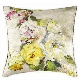 designer cushdion covers various designs silk cotton £8 a pair