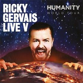 Ricky Gervais - The Humanity Tour - 11 October - London x4 Stalls Seated £320