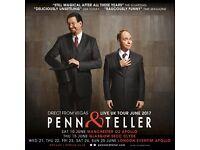 Penn & Teller Ticket for Tonight Thursday 22/06/17
