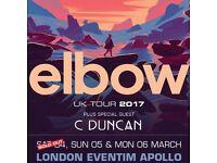 1x Elbow ticket / Eventim Apollo / 4th March / £40