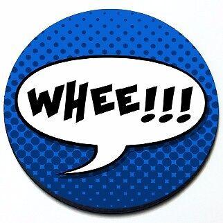 Whee!!! -  Fun Car MINI Cooper Magnetic Grill Grille Badge (Fun Car Magnets)
