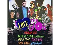 2 x tickets for the 'I Love 90's' concert in Birmingham - Sat 7th October